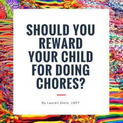 should you reward your child for doing chores