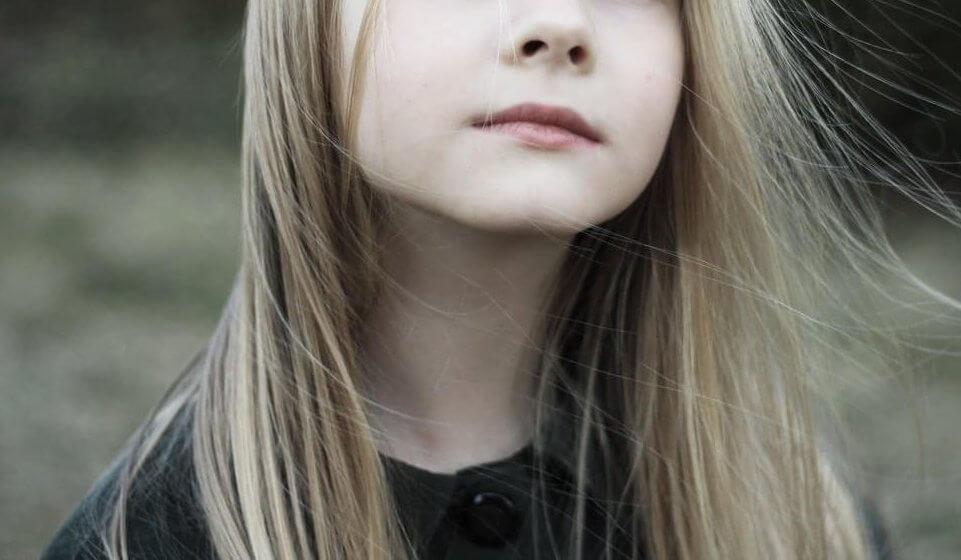 Sad child experiencing grief