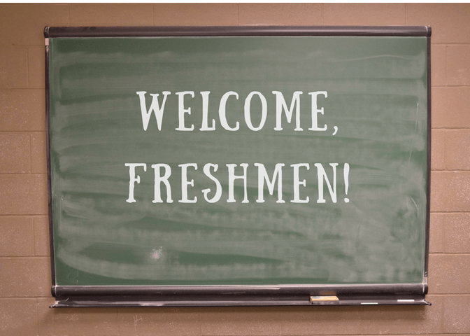 Freshmen entering high school