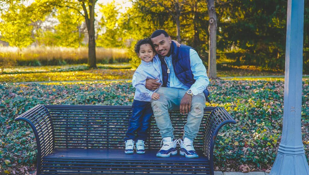 First grader has parental support from father