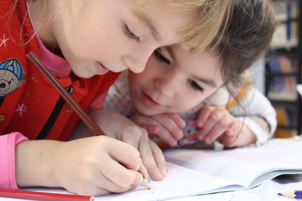 first grade children socializing