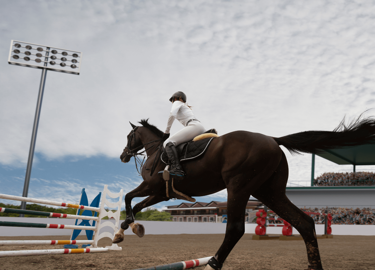 A horse gallops by with their rider holding on tight as they approach the obstacle in front of them. This could symbolize the confidence that comes from overcoming anxiety related to horseback riding. We offer anxiety therapy to help you overcome horse related trauma. Contact a trauma therapist today to learn more about trauma therapy.