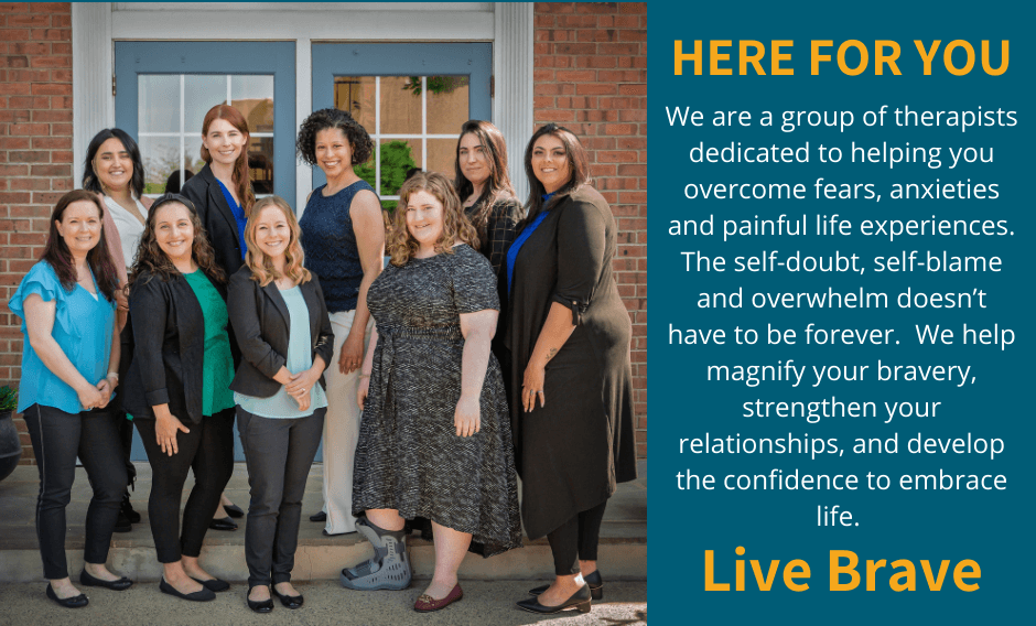Anxiety Therapists in Scotch Plains New Jersey standing on steps in front of a building.